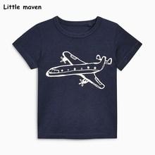 Lilla maven barn kläder 2018 sommar baby killar kläder kortärmad t-shirt plan print Bomull varumärke tee toppar 51021