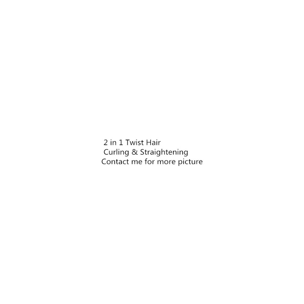 Profesional 2 en 1 de pelo rizado y plancha de pelo rizador de pelo mojado y seco plana de pelo de hierro