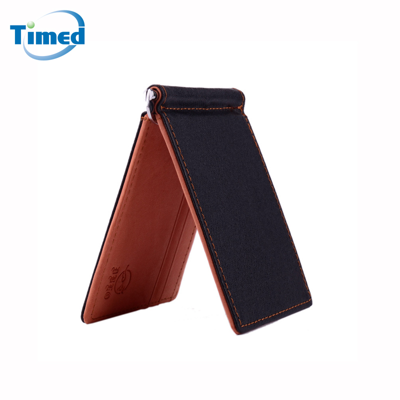 New Brand Mini Men's Leather Money Clip Wallet With Coin Pocket Card Slots Thin Purse For Man Magnet Hasp бра artelamp interior a7108ap 1ss
