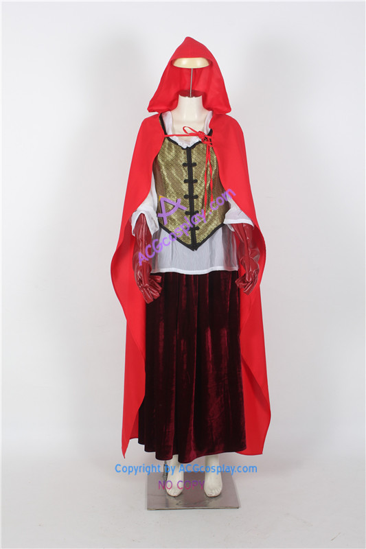 Once Upon a Time Ruby's Red Riding Hood cosplay costume-in