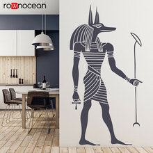 Egyptian Anubis Wall Sticker Ancient Egypt Style Wallpaper Home Living Room Decoration Removable Art Decals 3353