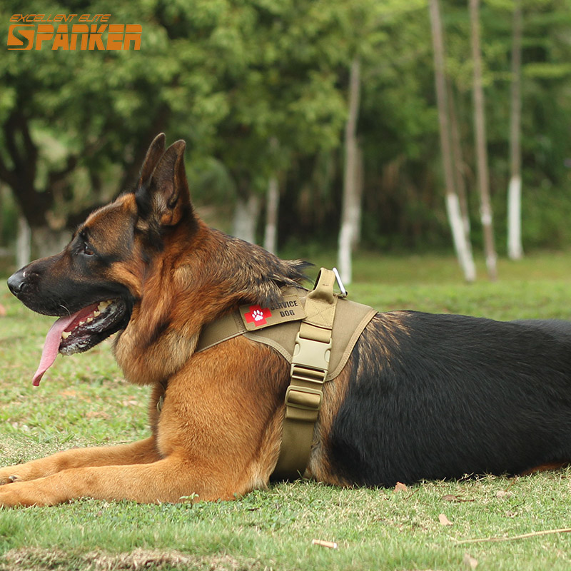 EXCELLENT ELITE SPANKER Tactical Dog Training Vest Dog Clothes Molle Pet Vest Harness Training Dog Harness Hunting Accessories spanker 1000d camouflage tactical molle tank mechanic chef cooking grilling apron army training hunting waterproof nylon vest