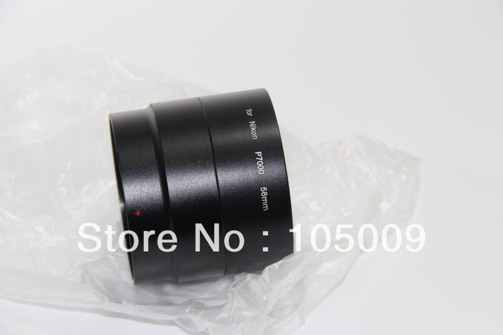 52mm 58mm Filter Mount Metal Lens Adapter Tube Ring For Nikon P7000 Camera