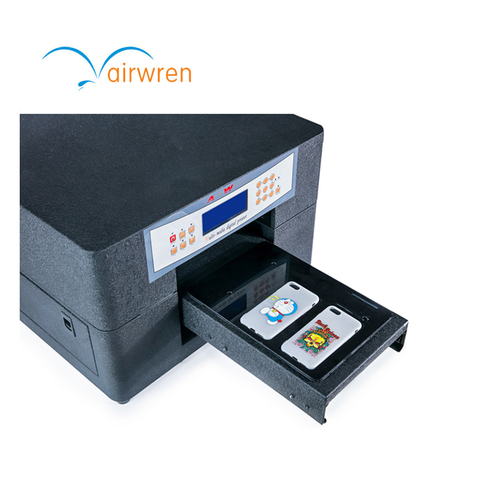 Automatic A4 Digital Fast Flatbed UV Printer For Metal Wood PVC Glass Paper Cloth Leather