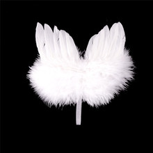 1PCS Wedding Party Kids Fairy Feather Wings Festival Angel Costume Dress girl Feather Wings Angel Wing Photo Props Pendant(China)