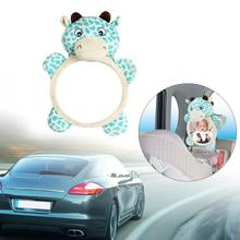 Baby Car Seat Mirror Back Shatterproof Rear Facing Infant Cow Shaped Clear View Auxiliary