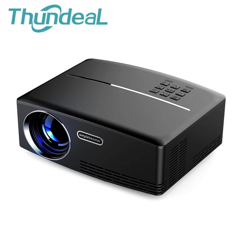 ThundeaL GP80 GP80UP Mini Inteligente Proyector 1800 Lúmenes LED LCD Beamer proy
