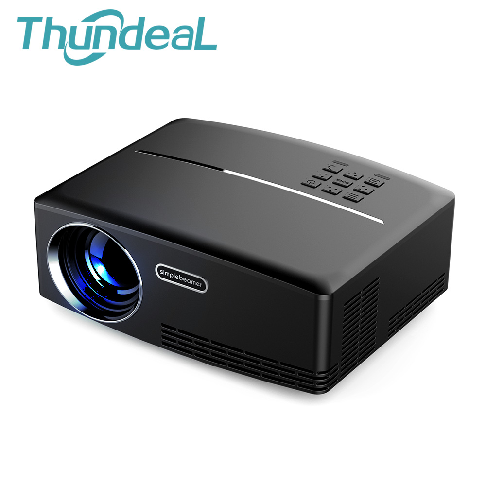 ThundeaL GP80 GP80UP Mini Smart Projector 1800 Lumens LED LCD Beamer Proyector VGA HDMI Optional Android