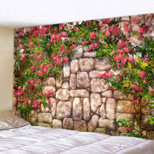 Small Tree By The Stone Wall Tapestry Wall Hanging Large Size Wall Tapestry Cheap Hippie Boho Wall Tapestries Mandala Fabric