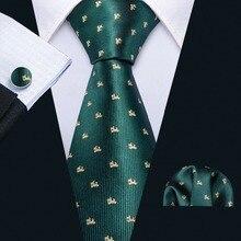 Модные дизайнерские синие шелковые галстуки с рисунком собаки, набор галстуков Barry. Wang, 8,5 см, галстуки на шею для мужчин, подарки, вечерние галстуки, Прямая поставка, FA-5171