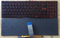 New for MSI GL62M 7RDX 1096 7REX 1896US 7REX 1896 GL62MVR GL63 GL72M GL73 Series Laptop US Keyboard With Red Backlight
