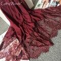 Cachecol de inverno 2016 Outono/Inverno Lenço de Algodão e Linho Das Mulheres Marca De Luxo Rendas Projeto Cachecol Fashion Echarpe Foulard Femme Sjaal