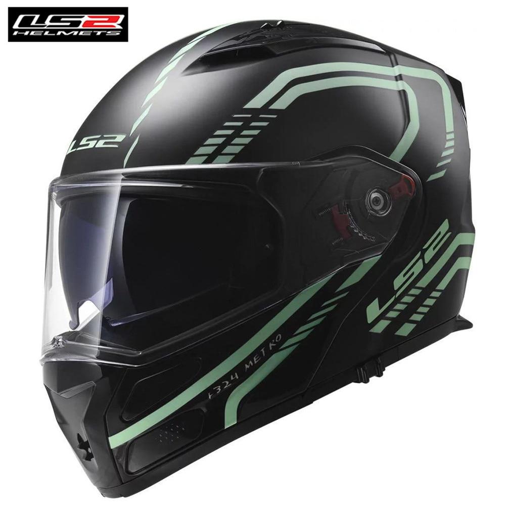 f9dcfc2d LS2 Metro FF324 Firefly Motorcycle Helmet Modular Flip Up Racing ...