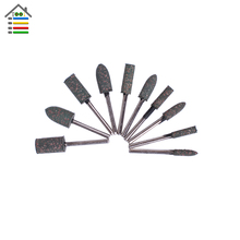 AUTOTOOLHOME Rubber Abrasive Mounted Stone Polishing Rotary Tool Set Kit For Mini Drill Dremel 4000 Accessories