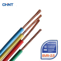 CHNT Wire And Cable National Standard Multi-strand Soft Wire GB Copper Wire BVR 2.5 Square 100 Meters