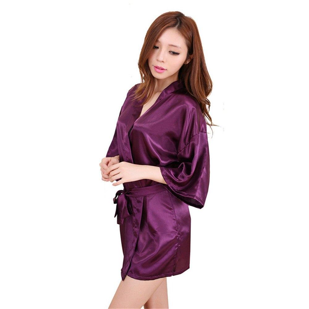 8565fbbb5d07147 Нам $33,66 Китайский шелковый халат для женщин из атласного шелка кимоно  халатик...Нам $13,77 Женщины с длинным рукавом блуза рубашка ...