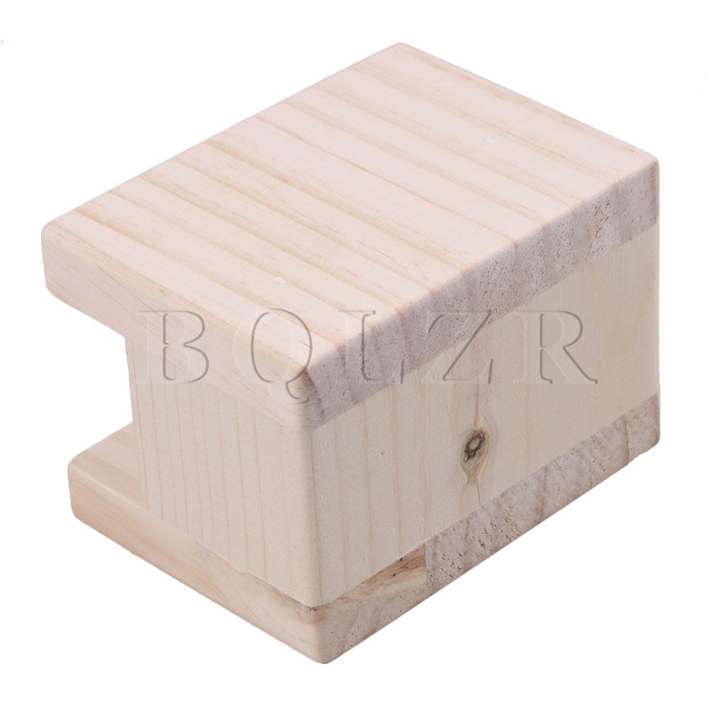 BQLZR  10x7x8.5cm Nature Color Wood Table Desk Bed Riser Lift Furniture Lifter Storage For 4cm Groove Feet Up To 5cm Lift