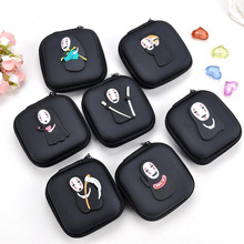 2018 New PU Spirited Away Cute Style Novelty Beautiful Gril Zipper Plush Square Coin font b