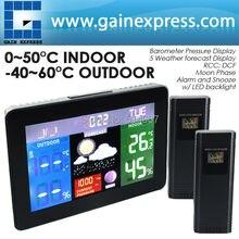Атмосферное dcf рсс метеостанция rh % давление календарь температура монитор термометр