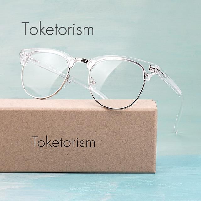 Toketorism בציר מעצב אופנה שקוף מסגרת משקפיים לגבר ואישה
