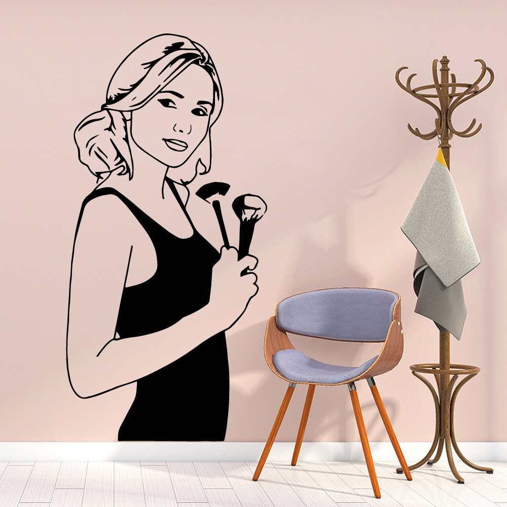 Fashionable makeup Wallpaper Home Decoration Wall Sticker For Kids Rooms Nursery Room Decor Decal