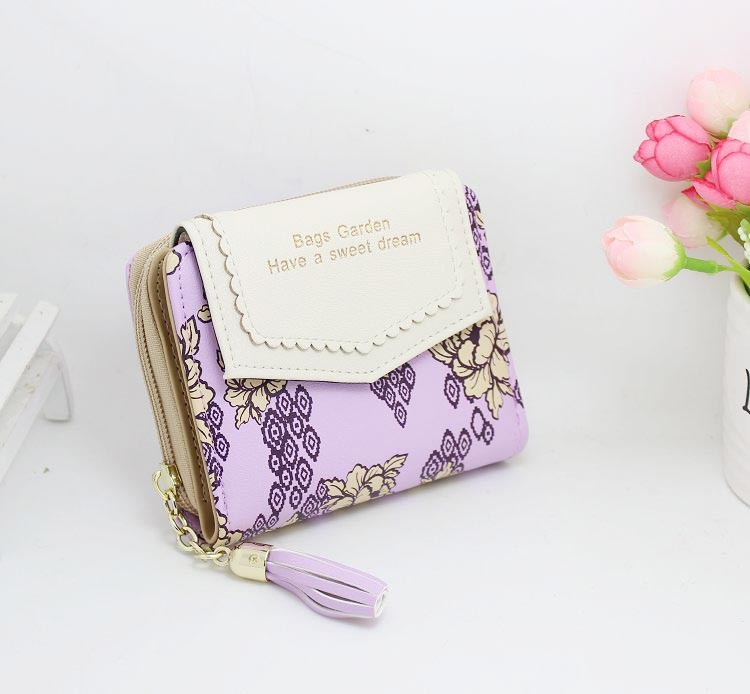 Cute Vintage Floral Leather Women's Wallet Bags and Wallets Hot Promotions New Arrivals Women's Wallets