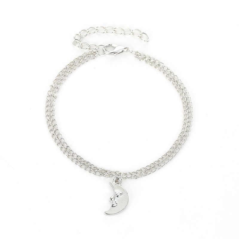 Boho fala żółw wisiorek obrączki dla kobiet 2018 powłoki łańcuszek na kostkę bransoletki na nogę czeski Foot Ocean biżuteria
