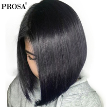 Lace Front Human Hair Wigs For Women With Baby Hair 180 Density Short Silky Straight Hair