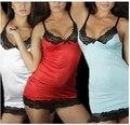 HOT! 2016 Novo traje lingerie sexy mulheres rendas deslizamento vestido 3 cores