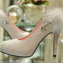 Spring Handmade Elegant lace wedding font b shoes b font bridal font b shoes b font