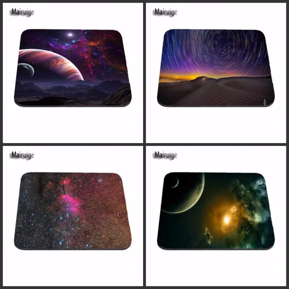 New Arrivals In Beautiful Space Mouse Pad Fashion Computer Notebook Gaming Mice Mat 18*22cm and 25*29cm And 25*20cm Mouse Mats
