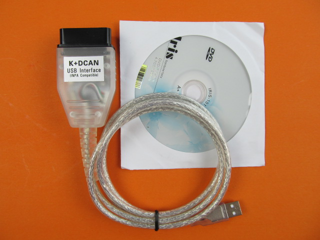 for bmw inpa k d-can newest Ediabas K+DCAN USB Interface D-CAN CAN Scan Reader OBD OBD2 Cable image
