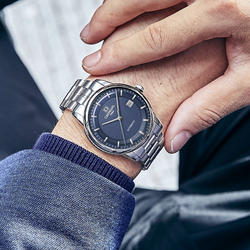 Karnawał importu MIYOTA ruch mechaniczny zegarek Sapphire zegarki automatyczne mężczyźni wodoodporna stalowy zegarek zegar Montre Homme