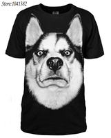[XHTWCY]Big Size Men Street Fashion 3d Husky t shirt T Shirt doge Dog Black Short Sleeve Shirts Free Shipping