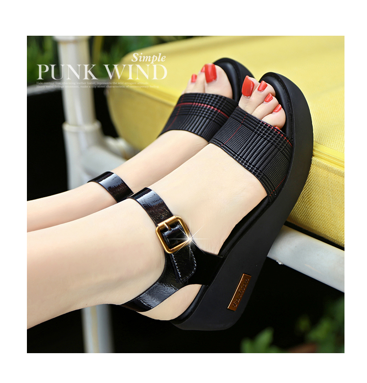 Sandals Female Summer Flat 2019 New Wild With High Heel Wedges Comfortable Non-slip Soft Bottom Pregnant Women Mother Shoes 58