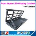 Водонепроницаемый передняя открыт из светодиодов витрины легко ремонт из светодиодов витрины установка на стене 480 * 1280 мм