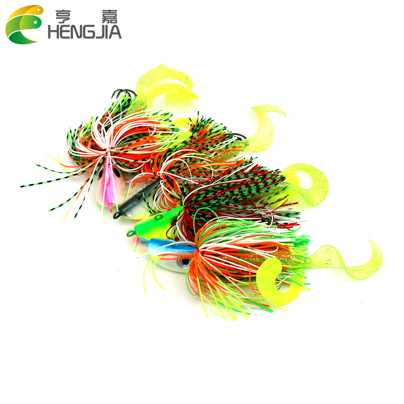 10pcs/lot 40g mixing colors Bigger Lead Head Hook with soft bait Jig Head Hook Soft Bait Lead Fishing Tackle Accessories