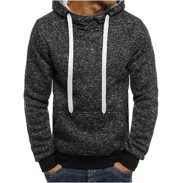 90bd84df3435 2018 neue Mode Mens Hoodies Marke Männer einfarbig Sweatshirt Männlichen Hoody  Hip Hop Herbst Winter Hoodie