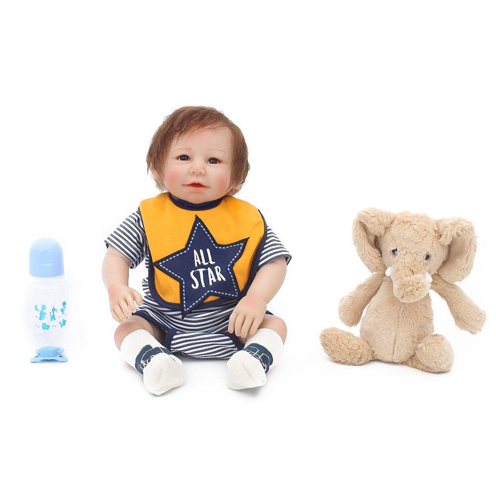 46 cm silicone bébé poupées Reborn poupée jouet pour enfants accompagner sommeil mignon vinyle fait à la main réaliste enfants jouets cadeau bambins offre spéciale