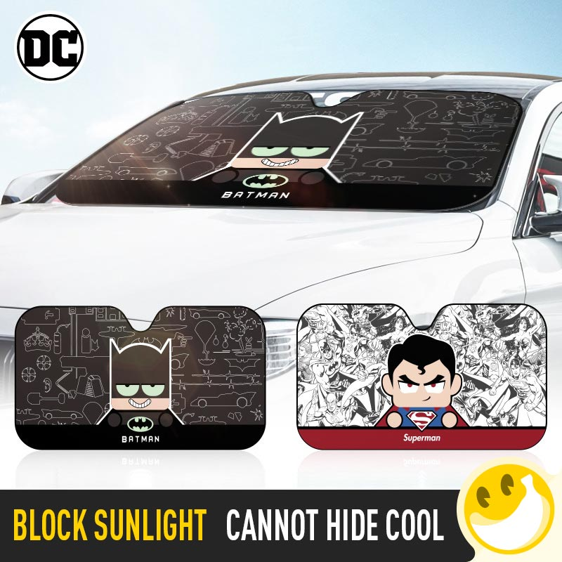 Estilo marvel e estilo dc pára-brisa do carro pára-brisas capa de proteção solar auto zonnescherm parasole guarda-sol coche
