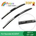 """Limpiaparabrisas winscreen coche para Hyundai ACCENT (2011 +), 16 """"26"""", 3 Sección caucho, parabrisas, limpiador de goma"""