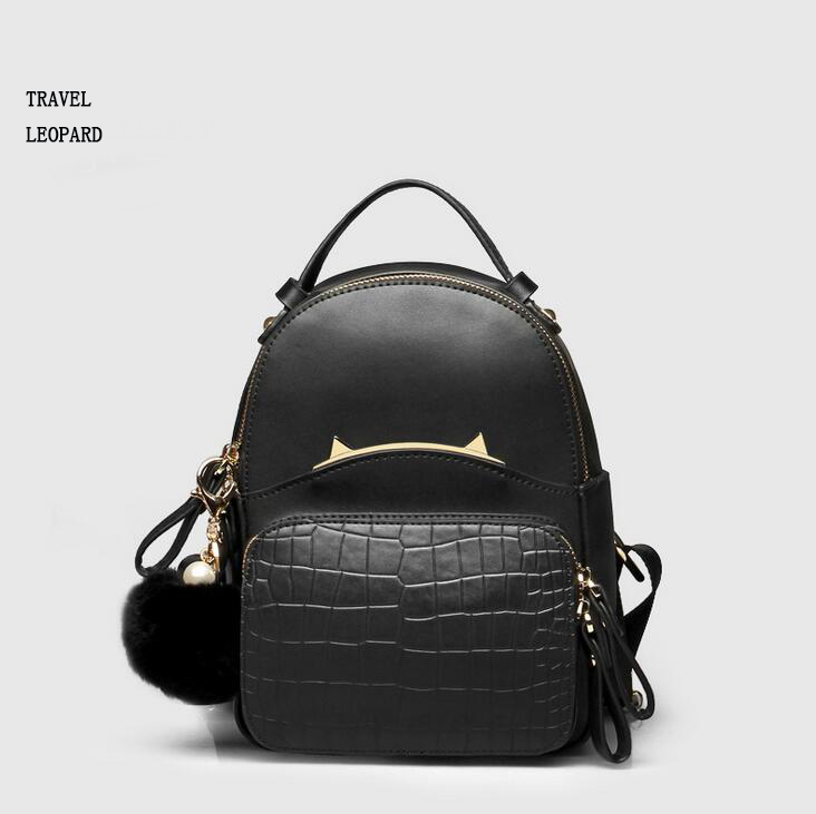 Travel Leopard Sac A Dos Women Waterproof Backpack Genuine Leather School Bags Mochilas Escolar Bolsa Feminina Fashion 2017