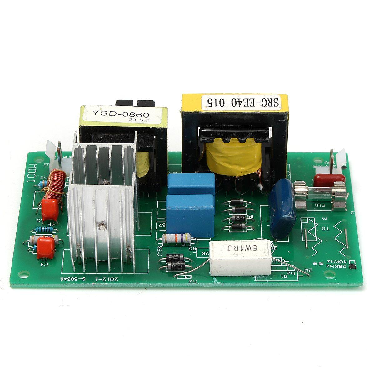 Nettoyeur ultrasonique de transducteur de nettoyage de 100 W 28 KHz haute performance + panneau de conducteur de puissance 220VAC pièces de décapant ultrasonique - 6
