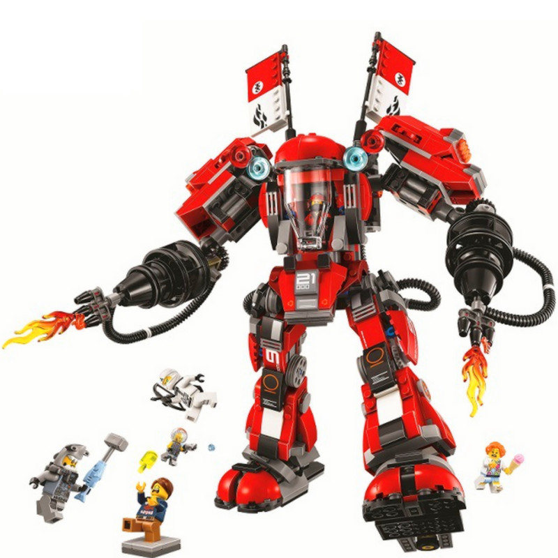 BELA Ninjagoed Movie Fire Mech Building Blocks Sets Bricks Classic Kids Creator Toys Model Marvel Compatible Legoings 70615 велосипед cube access wls gtc sl 2x 27 5 2017