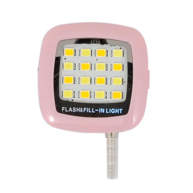 Fashion Built-in 16 LED Selfie FLASH Light for IPhone 6 6S Plus Samsung S6 S7 edge Camera Phone Photography SYNC Speedlight Lamp