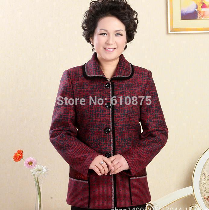 Women Plus Size Autumn Turn down Collar Full Sleeve Thicken Coat Female Winter Single breasted Slim Warm Blends Waistcoat