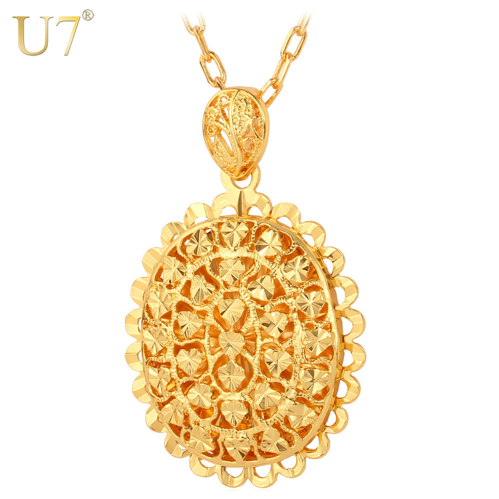 U7 hollow heart pendant necklace trendy gold color love heart u7 hollow heart pendant necklace trendy gold color love heart necklaces pendants women jewelry gift p535 aloadofball Image collections