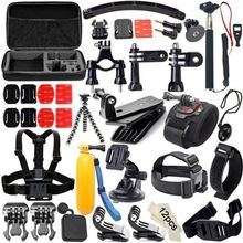 50 in 1 Gopro Accessories Chest Ram Mount Kit For Hero 7 Black 5 xiaomi yi 4K Go Pro sony x3000 Action Camera