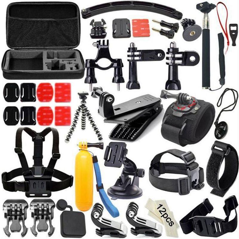 Ensemble 50 en 1 pour accessoires Gopro boîtier de fixation poitrine caméra d'action pour Gopro Hero 7 noir 6 5 4 3 Kit xiaomi yi go pro Accesorios