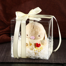 20 PCS Hotsale  6*6*Hcm Clear PVC Mother Day Gift box Cute Doll& Macaroon Cup Cake display&Packaging Wedding Candy&Cake bo